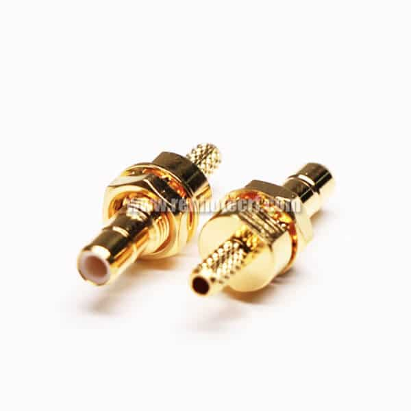 SMB Female Straight Bulkhead Crimp Type for Cable