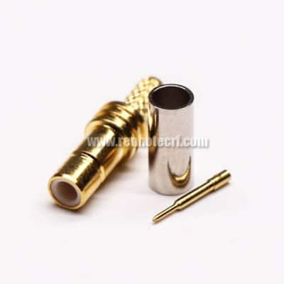 SMB Connector Female Straight Crimp Type for Coaxial Cable