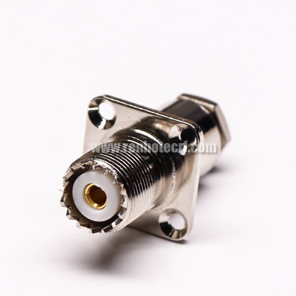 UHF Male Coaxial Connector 180 Degree Sliver Plated Crimp Type for Cable