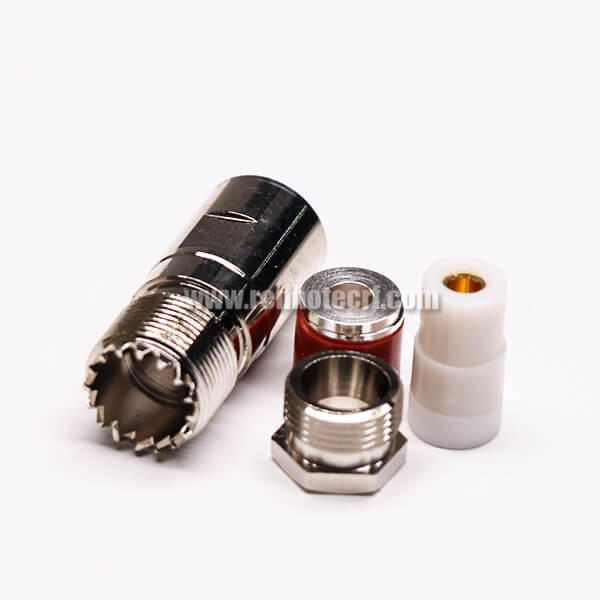 UHF Female 180 Degree Connector Clamp Type for Cable UHF-SL16-K1/2