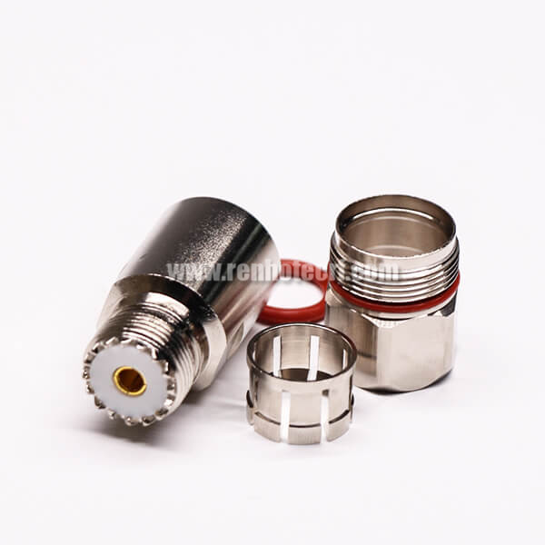 UHF Male Connector with Gold Plated Clamp Type for Cable