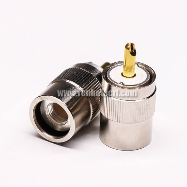 UHF Male Connector Vertical and Clamp Type for Cable