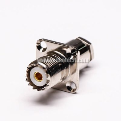 UHF Connector Jack Straight Clamp Type for Flange Mount