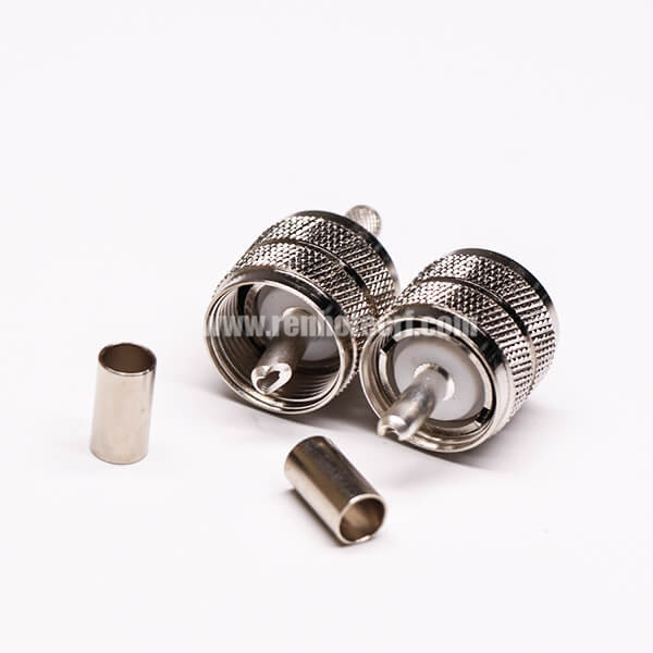 UHF Male Coaxial Connector Straight Crimp Type for Cable