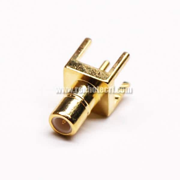 SMB PCB Connector Straight 180 Degree Female Through Hole