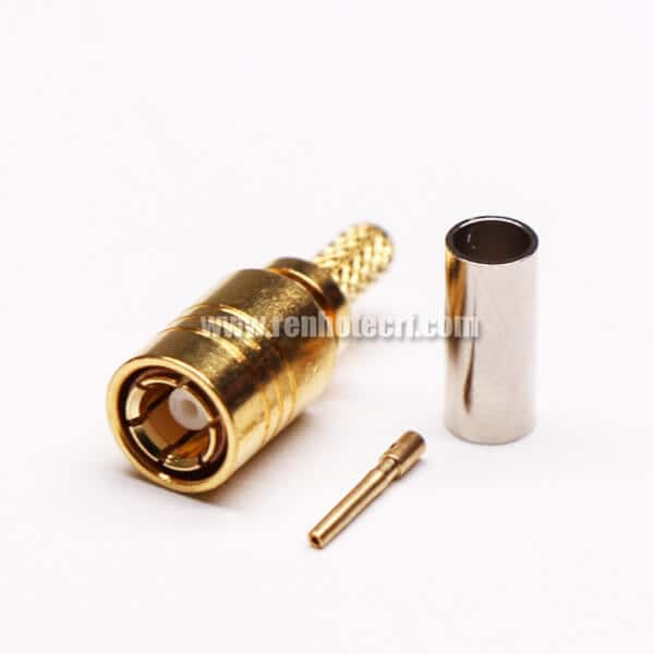 SMB Crimp Connector Male Straight for Coaxial Cable
