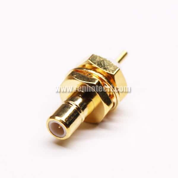 SMB Straight Female Connectors Solder for Cable Extended PTFE