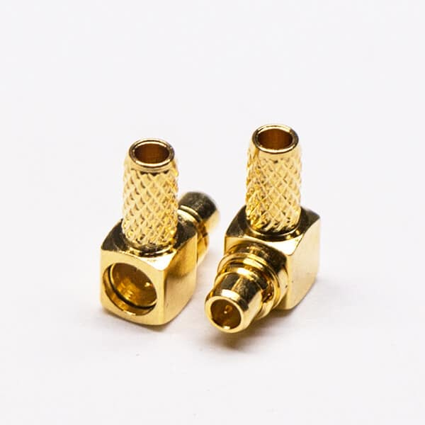 MMCX RF Connector Right Angled Male Crimp Type for Cable