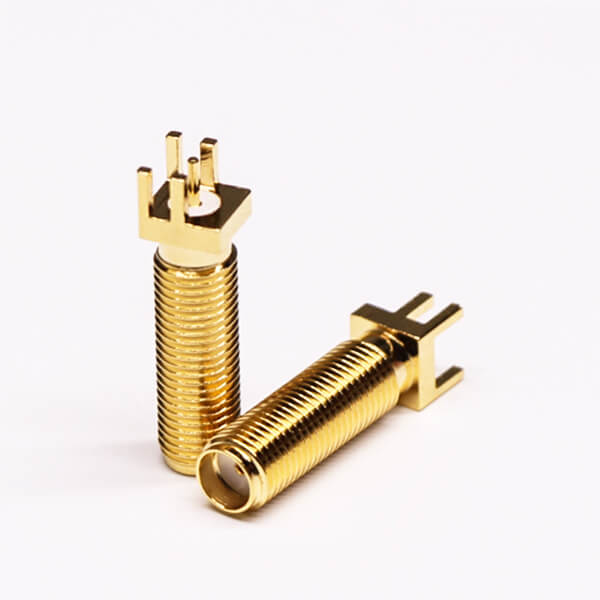 SMA Straight PCB Jack Coaxial Connector Through Hole