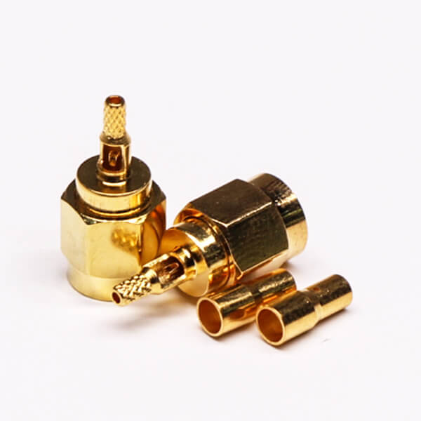 SMA Crimp Connector 180 Degree Plug Coaxial RF Connector