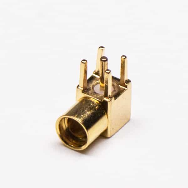 MMCX Connector Female Right Angled Through Hole for PCB Mount