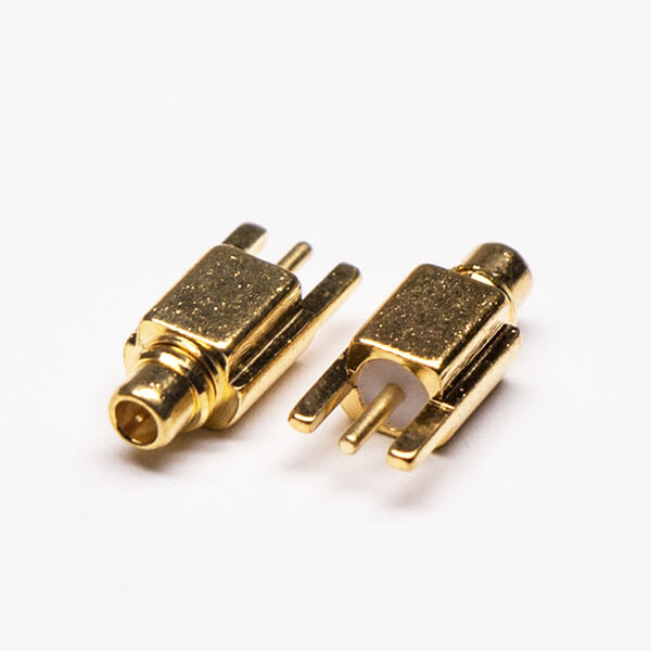 MMCX PCB Connector Straight Male Gold Plated Offset Type