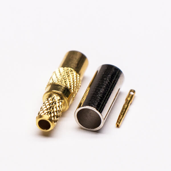 MMCX Connector Male Straight Gold Plated Crimp Type for Cable