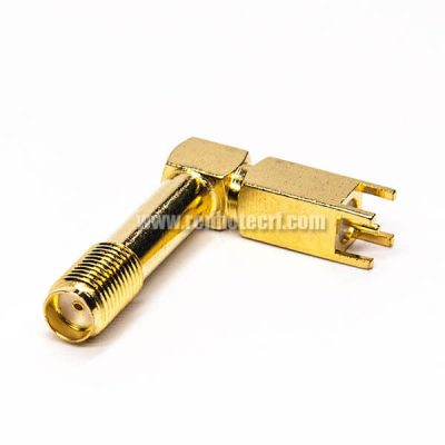 SMA Connector 90 Degree Female Right Angle Through Hole for PCB Mount
