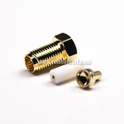 180 Degree SMA Connector Straight Female Gold Plating for 1.37/1.13/0.81 Cable