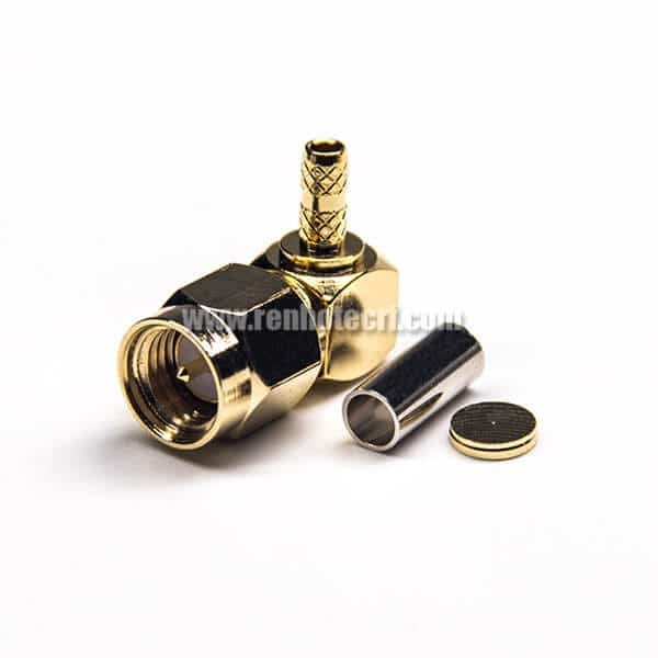 MCX male SMA male plug right angle 90 degree RG316 Coaxial Pigtail cable 50ohm