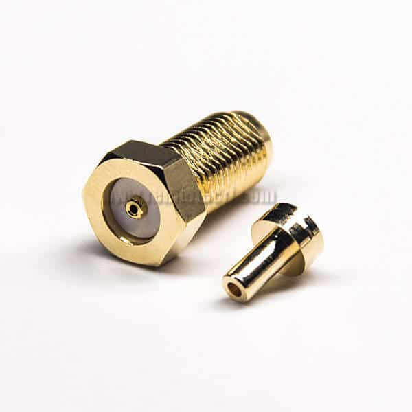 RP SMA Straight Connector 50 Ohm Female 180 Degree Crimp Type Solder Type for 1.37/1.13/0.81 Cable