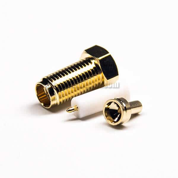 SMA Connector RP Female Crimp Type for RG316 Coaxial Cable Gold Plating