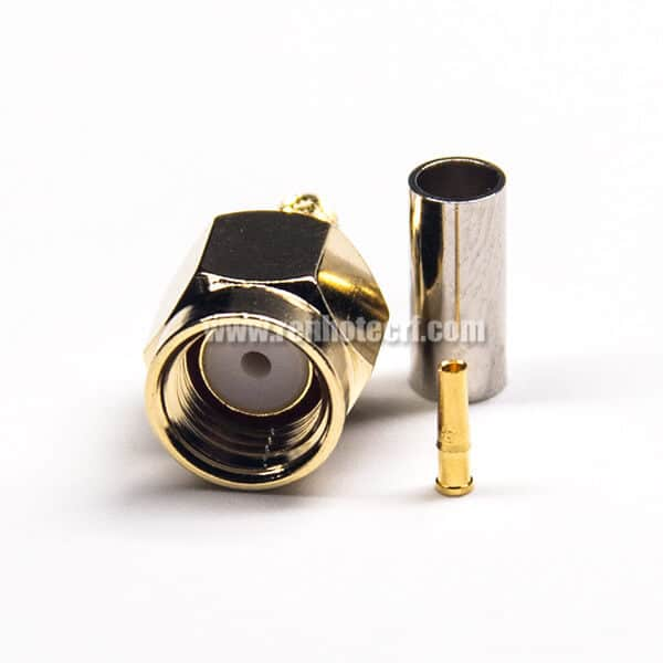 RP Male SMA Connector Straight Female Pin Crimp Type Gold Plating for RG316