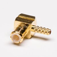 MCX Connector Male Right Angle Gold Plated Crimp Type for Cable