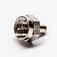 F Connector Male RF Connector Load Straight Nickel Plated
