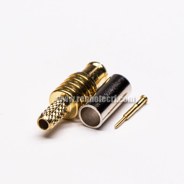 MCX RF Connector Male Straight Gold Plated Crimp for Cable
