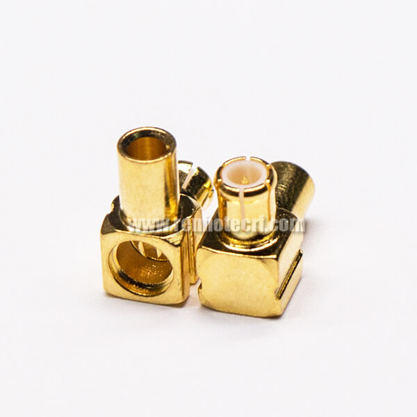 MCX Type Connector Right Angled Male Solder Type for Cable
