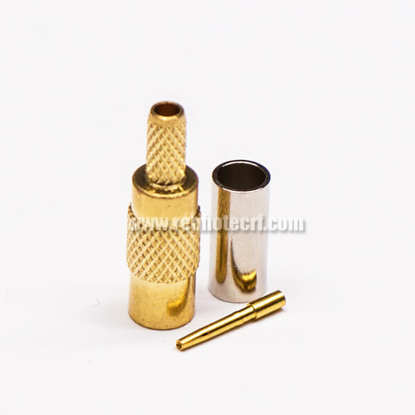 MCX Connector Jack Straight Gold Plated Crimp Type for Cable