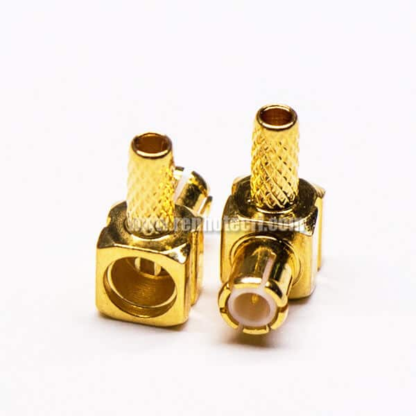 MCX Connector Right Angle Male Gold Plated Crimp Type for Cable