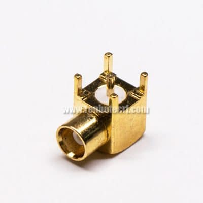 MCX Connector PCB Mount Female Right Angled Through Hole