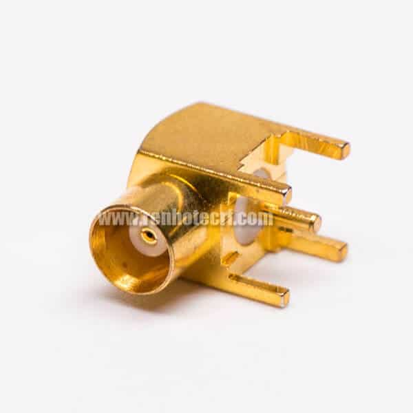 MCX Female to Coax Connector Through Hole for Pcb mount