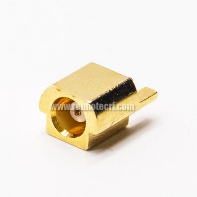 MCX Offset to Panel Female Connector Straight Gold Plating for PCB Mount