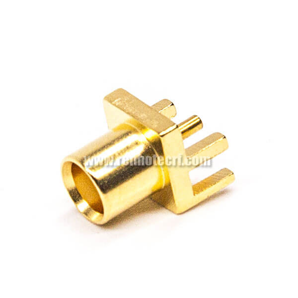 MCX PCB Mount Female Connector 180 Degree Margin Surface Mounting