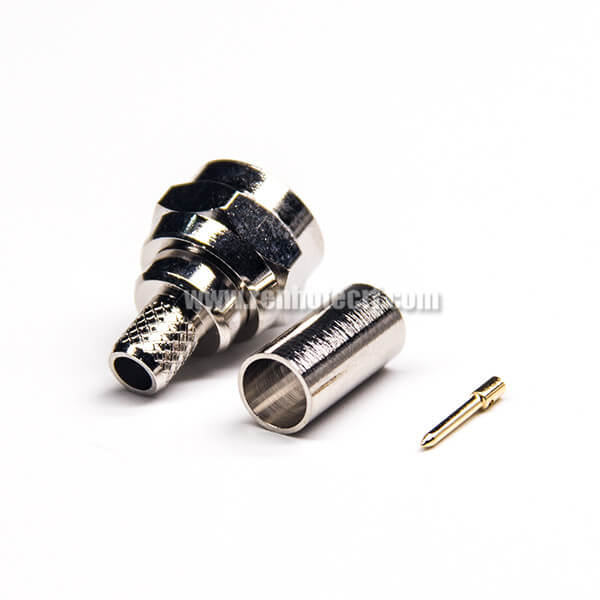 Crimp Type F Connector Straight Male for Coaxial Cable