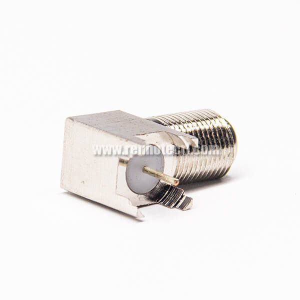 F Type Connector 90 Degree Female Through Hole for PCB Mount