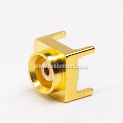 MCX Straight Connector Female Through Hole for PCB Mount Gold Plating