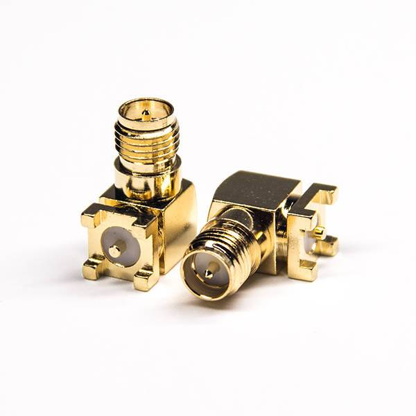 SMT SMA Connector Right Angled Gold Plating for PCB Mount