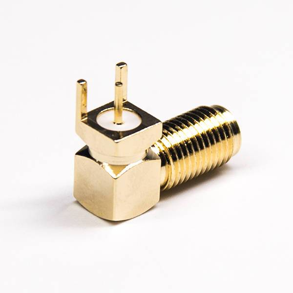 SMA Connector Right Angled Through Hole Gold Plating Panel Mount