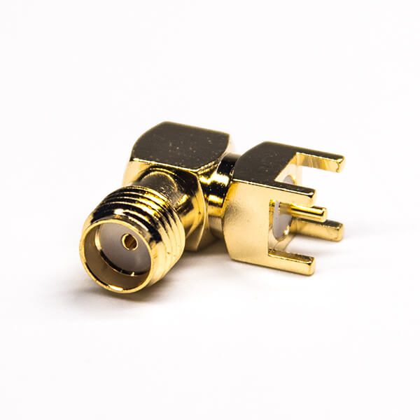 SMA Connector Right Angled Female Through Hole PCB Mount 50 Ohm
