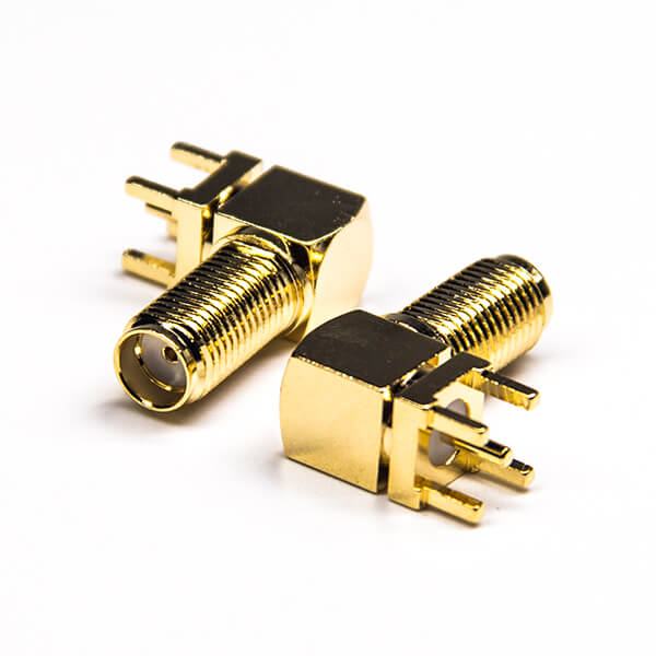 SMA Cconnector,Right Angled/Elbow,Female,Bulkhead,50Ohm ,Gold Plating