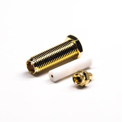 Gold Plating SMA Connector 180 Degree Female with PTFE Solder Type for 1.37. 1.13 0.81 Cable