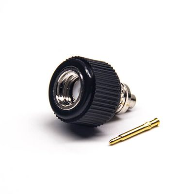 Solder Type Male Connector SMA Straight Solder Type with Black Plastic Shell
