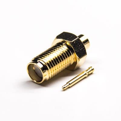 RP Female 180 Degree Straight Male Pin Solder Type for Coaxial Cable