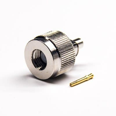 Nickel Plating SMA Connector 180 Degree Male Solder Type for Cable