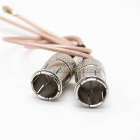 F Type Quick Plug RF Coax Coaxial Cable Connector RG178 1M Straight