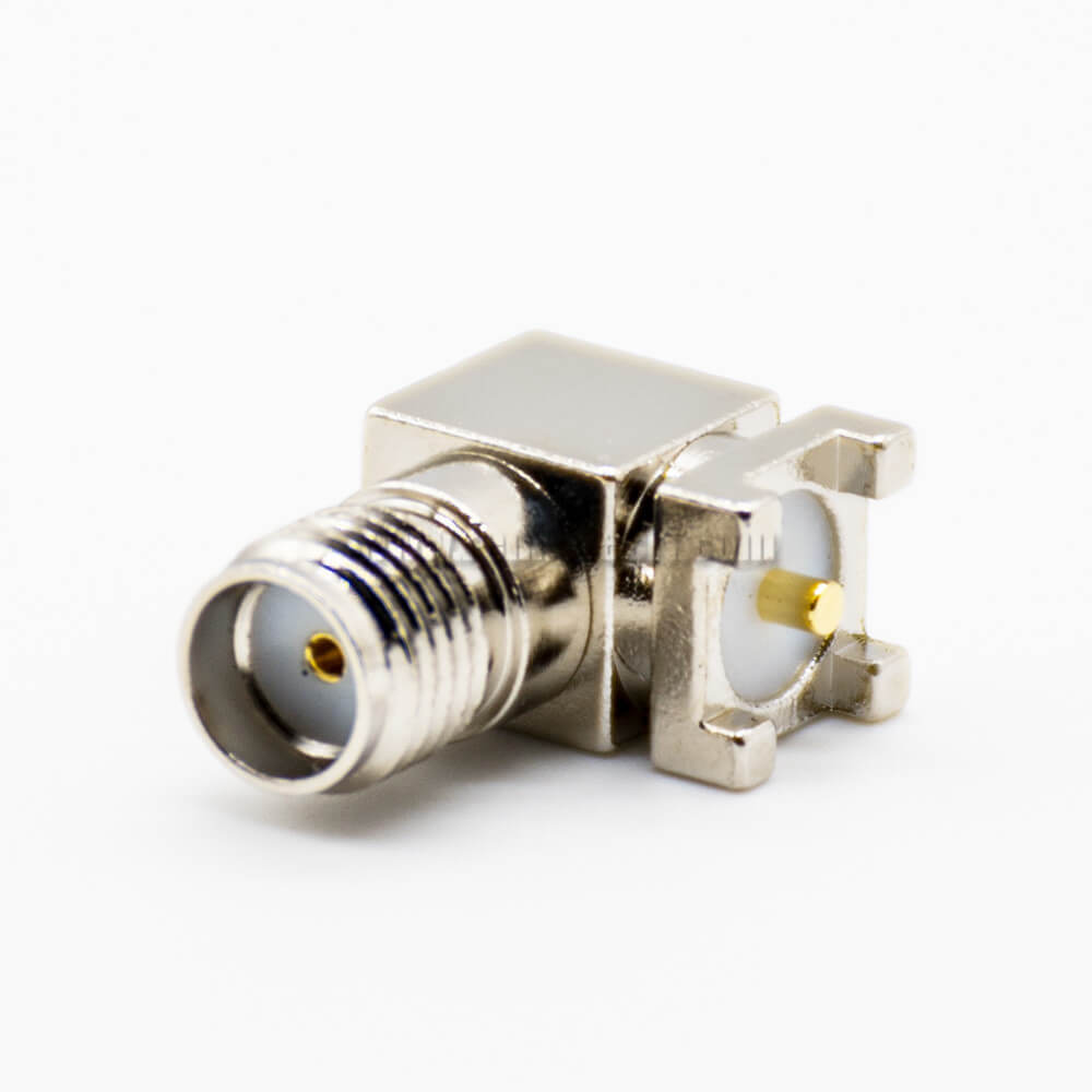 SMA 90 Degree Connector PCB Mount Female SMT Threaded