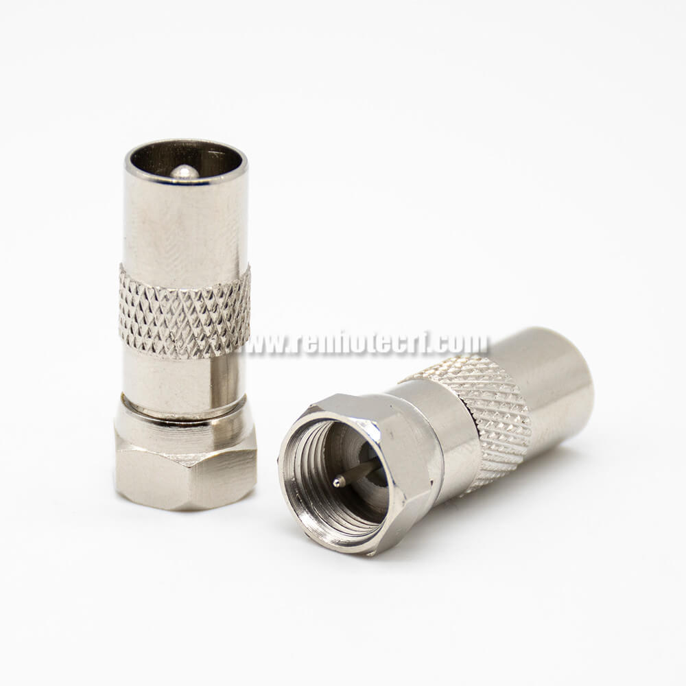 Straight Adapter F Type Male To PAL Male Coaxial Connector