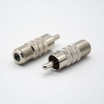 F Type Female to RCA Male Adapter F to RCA Male Straight Connector