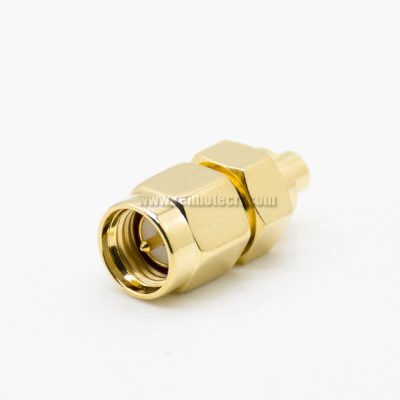 SMA To MMCX Male To Female JK Adapter 180°Gold Plating Coaxial Connector