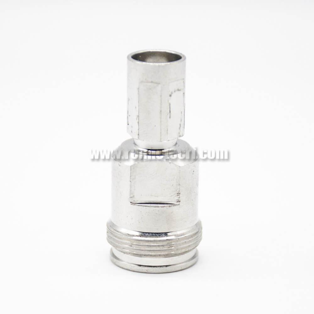 N Type Female Adapter To NEX10 Male Coaxial Connector Straight Nickel Plated